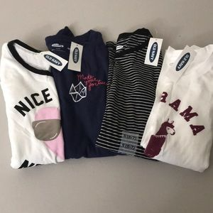 NWT girls old navy set of 4 tops